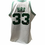 Larry Bird Autographed White Celtics Mitchell & Ness Jersey  (Larry Bird Holo/Sports Images COA)